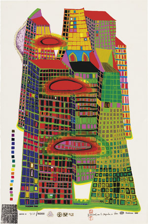 Lot 8004, Auction  110, Hundertwasser, Friedensreich, Good Morning City - Bleeding Town