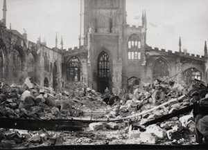 Lot 4375, Auction  111, World War II, Coventry after bombing raids WWII