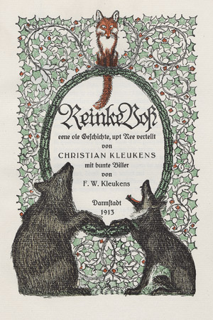 Lot 3119, Auction  112, Kleukens, Christian und Ernst Ludwig Presse, Reinke Voß
