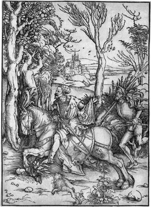 Lot 5073, Auction  112, Dürer, Albrecht, Ritter und Landsknecht