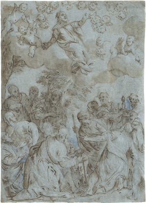 Lot 6400, Auction  112, Caliari, Carletto, Die Himmelfahrt Christi