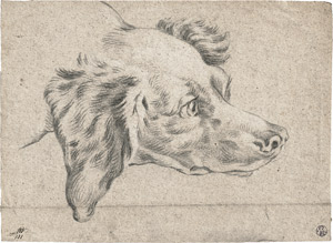 Lot 6478, Auction  112, Oudry, Jean-Baptiste, Kopf eines Jagdhundes