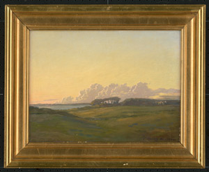 Lot 6749, Auction  112, Deutsch, 1900. Südliche Landschaft im Sonnenuntergang