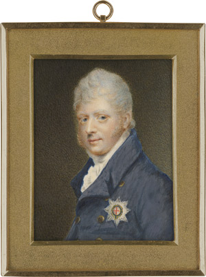 Lot 6842, Auction  112, Englisch, um 1815. Bildnis des Adolphus Frederick, 1. Duke of Cambridge (1774-1850), in blauer Jacke mit Bruststern des Hosenbandordens