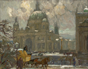 Lot 7002, Auction  112, Antoine, Otto, Berliner Dom mit Postkutsche