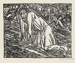 Lot 7010, Auction  112, Barlach, Ernst, Christus in Gethsemane