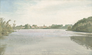 Lot 7034, Auction  112, Bluth, Manfred, Ansicht Dobbrowik vom Bauernsee (Dobbrikow)