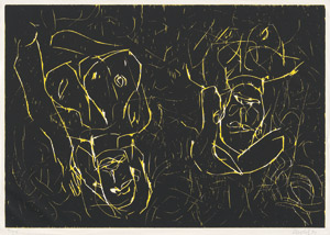 Lot 8030, Auction  112, Baselitz, Georg, Frau und Frau