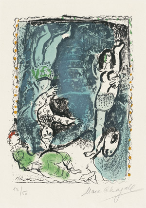 Lot 8056, Auction  112, Chagall, Marc, Pierrot bleu