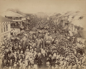 Lot 4019, Auction  113, British India, Dussehra procession in Baroda, Gujarat State