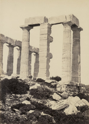 Lot 4045, Auction  113, Konstantinou, Dimitrios and Paul Baron des Granges, Architectural studies of the Temple of Poseidon at Cape Sounion (4) and other Greek monuments