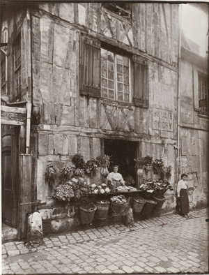 Lot 4081, Auction  113, Atget, Eugène / Pierre Gassmann, Flower vendor, Maison 108 rue Moliere, Rouen