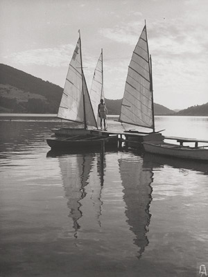 Lot 4083, Auction  113, Aufsberg, Lala, Sailboats on lake