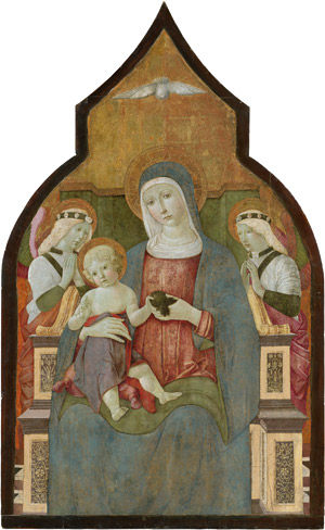Lot 6020, Auction  113, Giovanni, Benvenuto di, Madonna mit Christuskind und Engeln