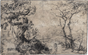 Lot 6650, Auction  113, Flämisch, um 1630. Waldlandschaft mit Wanderer