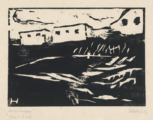 Lot 8213, Auction  113, Heckel, Erich, Weiße Häuser