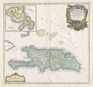 Lot 79, Auction  114, Vaugondy, Gilles Robert de, Isles de Saint Domingue ou Hispaniola