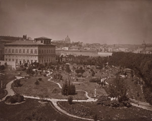 Lot 4014, Auction  114, Braun & Cie, Adolphe, View of Rome with Villa Farnesina and gardens