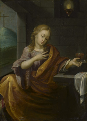 Lot 6010, Auction  114, Niederländisch, 17. Jh. Maria Magdalena am Grab Christi