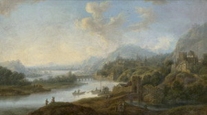 Lot 6023, Auction  114, Schütz, Christian Georg, Rheinlandschaft