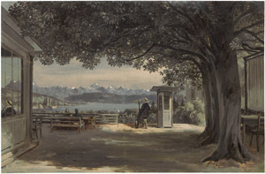 Lot 6065, Auction  114, Deutsch, um 1850. Aussichtsterrasse am Luganosee