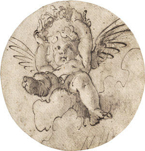 Lot 6502, Auction  114, Novelli, Pietro, Fliegender Putto mit Lorbeerkranz