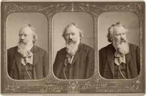 Lot 4011, Auction  115, Brahms, Johannes, Triplex portrait of Johannes Brahms