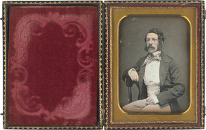 Lot 4015, Auction  115, Daguerreotypes, Portrait of an elegantly dressed gentleman