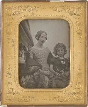 Lot 4016, Auction  115, Daguerreotypes, Portrait of mother and daughter