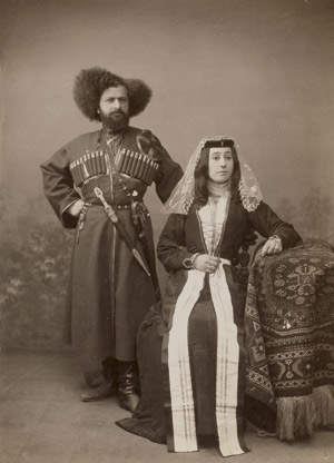 Lot 4019, Auction  115, Ermakov, Dimitri N., Studio portrait of Duke Avaliani and his wife in national dress