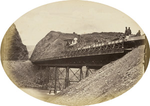 Lot 4021, Auction  115, Georgia/Railway, Views of railway bridge construction over the Rioni River (Kutaisi), Georgia