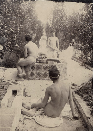 Lot 4025, Auction  115, Gloeden, Wilhelm von, Male nudes in garden