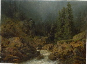 Lot 6086, Auction  115, Piepenhagen, August Friedrich, Wildbach in den Alpen