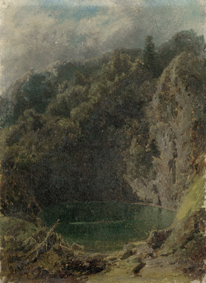 Lot 6088, Auction  115, Piepenhagen, Charlotte, Alpenlandschaft mit Gebirgssee