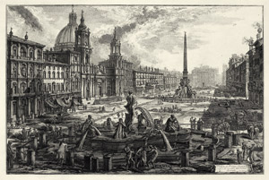 Lot 6223, Auction  115, Piranesi, Giovanni Battista, Veduta di Piazza Navona sopra le rovine del Circo Agonale