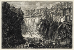 Lot 6225, Auction  115, Piranesi, Giovanni Battista, Veduta della Cascata di Tivoli