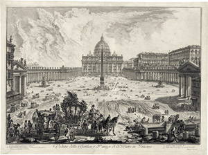 Lot 6229, Auction  115, Piranesi, Giovanni Battista, Veduta della Basilica e Piazza de S. Pietro in Vaticano