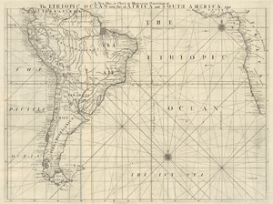 Lot 11, Auction  116, Herbert, William, A New Map or Chart in Mercators Projection of the Ethiopic Ocean