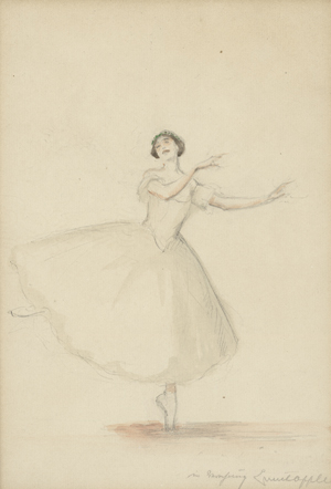 "Lot 3049, Auction  116, Oppler, Ernst und Karsawina, Tamara, Karsavina in ""La Sylphide""."