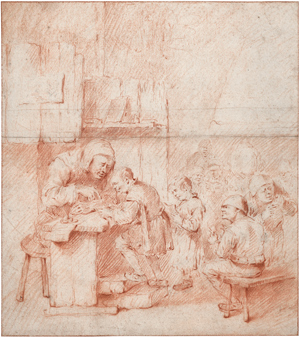 Lot 6626, Auction  116, Heemskerck I, Egbert van, In der Dorfschule