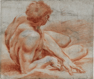Lot 6652, Auction  116, Carracci, Ludovico, Liegender männlicher Akt