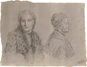 Lot 6692, Auction  116, Crespi, Luigi, Studienblatt mit zwei Portraits