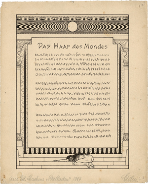 Lot 8520, Auction  116, Fidus, Das Haar des Mondes
