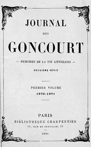 Lot 2057, Auction  117, Goncourt, Edmond und Goncourt, Jule, Journal des Goncourt